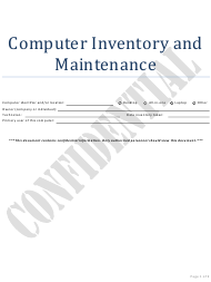 """Computer Inventory and Maintenance Template - Confidential"""