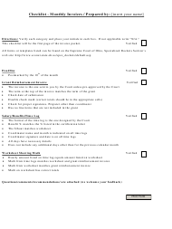 """Monthly Invoices Checklist Template"""
