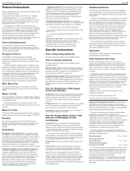 """IRS Form 8329 """"Lender's Information Return for Mortgage Credit Certificates (Mccs)"""", Page 2"""
