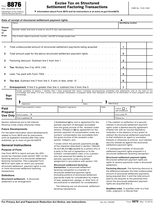 IRS Form 8876 Download Fillable PDF Or Fill Online Excise