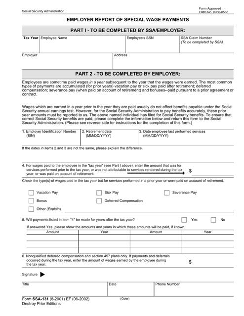 Form SSA-131 Printable Pdf