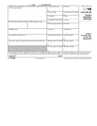 IRS Form W-2g 2018 Certain Gambling Winnings, Page 2