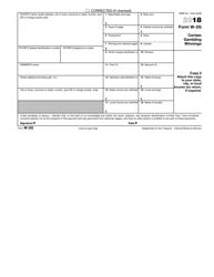 IRS Form W-2g 2018 Certain Gambling Winnings, Page 6