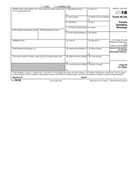 IRS Form W-2g 2018 Certain Gambling Winnings, Page 7