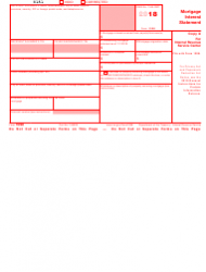 IRS Form 1098 2018 Mortgage Interest Statement, Page 2