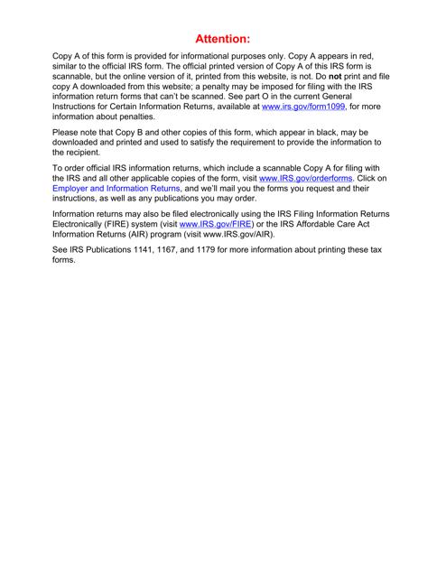 IRS Form 1099-A 2018 Printable Pdf