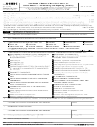 IRS Form W-8BEN-E Certificate of Status of Beneficial Owner for United States Tax Withholding and Reporting (Entities)