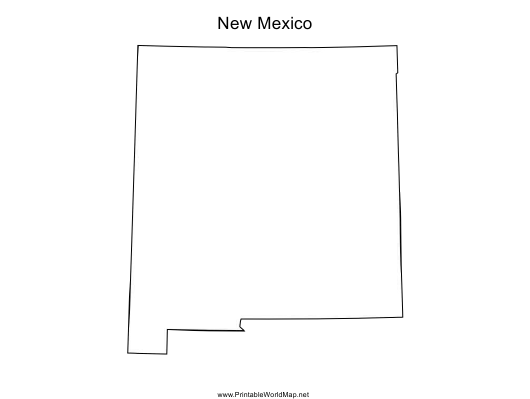 """New Mexico Map Template"" Download Pdf"