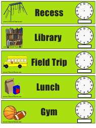 """School Event Time Spreadsheet Template"""