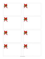 Christmas Bow Name Tag Template