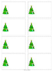 """Christmas Tree Gift Tag Template"""