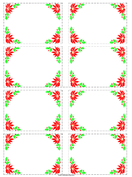"""Christmas Poinsettia Gift Tag Template"""