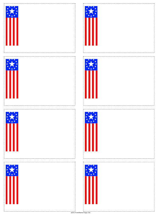 """Flag Name Tag Template"" Download Pdf"