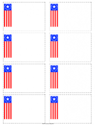 Flag Name Tag Template