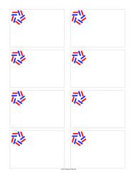 Star Ribbon Name Tag Template