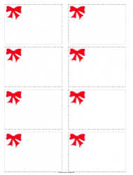 Red Bow Name Tag Template