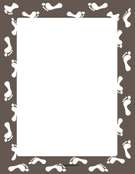 """White Footsteps Page Border Template"""