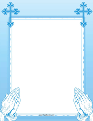 """Blue Prayer Page Border Template"""