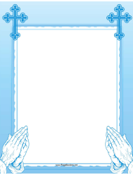Blue Prayer Page Border Template