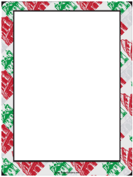 """Red and Green Italian Buildings Page Border Template"""