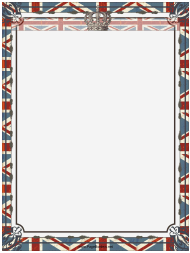 """Crown and Union Jack British Page Border Template"""
