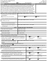 """Form Ssa-10 """"Application for Widow's or Widower's Insurance Benefits"""""""