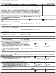 "Form SSA-10 ""Application for Widow's or Widower's Insurance Benefits"""