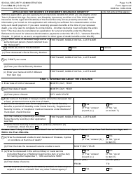 Form SSA-10 Application for Widow's or Widower's Insurance Benefits