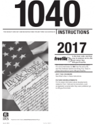 Instructions for IRS Form 1040 - U.S. Individual Income Tax Return 2017