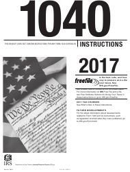 """Instructions for IRS Form 1040 """"U.S. Individual Income Tax Return"""", 2017"""