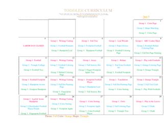 Toddler September Curriculum Template