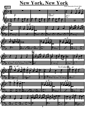 """John Kander/Fred Ebb - New York, New York Piano Sheet Music"""