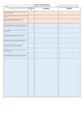 Student Progress Tracking Form - Social Studies