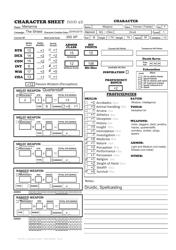 """Sample """"D&d 5e Character Sheet"""", 2015"""