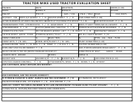 """Used Tractor Evaluation Sheet Template - Tractor Mike"""
