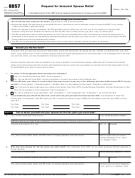 IRS Form 8857 Request for Innocent Spouse Relief