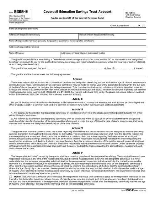 IRS Form 5305-E  Printable Pdf