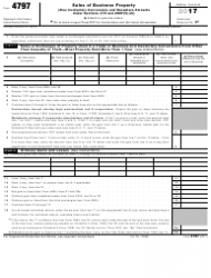 IRS Form 4797 2017 Sales of Business Property