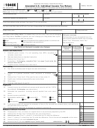IRS Form 1040-X Amended U.S. Individual Income Tax Return