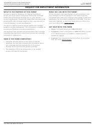 Form CMS-l564 Request for Employment Information