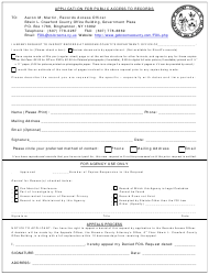 """Application for Public Access to Records"" - Broome County, New York"