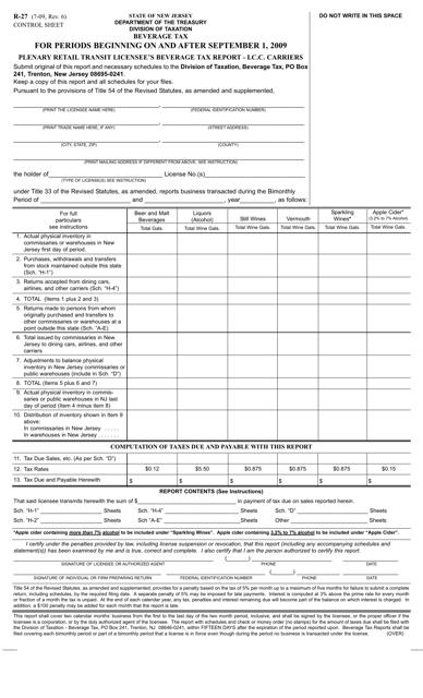 Form R-27  Printable Pdf