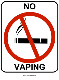 """No Vaping Sign Template"""