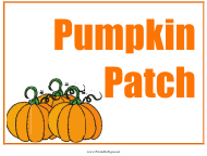 """Pumpkin Patch Sign Template"""