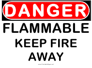 """Danger Flammable Warning Sign Template"""