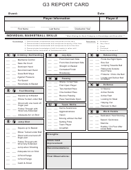"""""""G3 Report Card Template"""""""