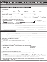 "Form REF-01 ""Property Tax Refund Request"" - New York City"