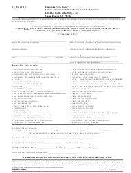 Form 6696 Authorization to Disclose Criminal History Records Information - Louisiana