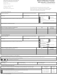Form UCT-115-E Report of Business Transfer (Sale, Acquisition, or Reorganization) - Wisconsin