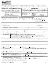 """Form DE1378A """"Application for Unemployment Insurance, State Disability Insurance, and Paid Family Leave Elective Coverage Under Section 708(A) of the California Unemployment Insurance Code (Cuic)"""" - California"""